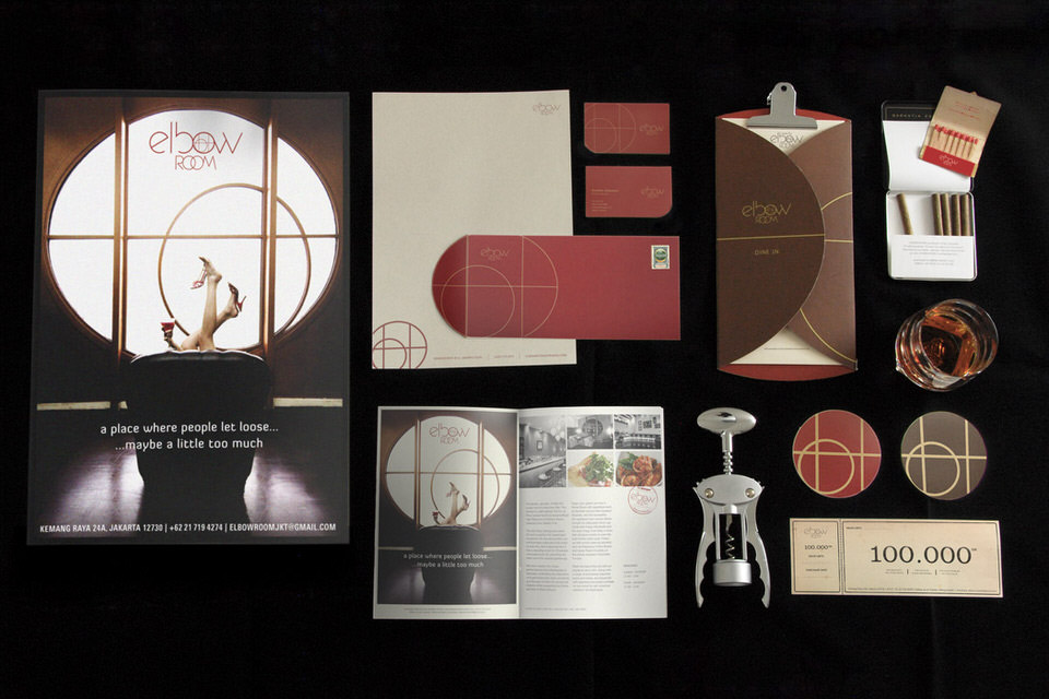 Feat - Elbow Room - Posters, stationery, menu, coasters, magazine layout