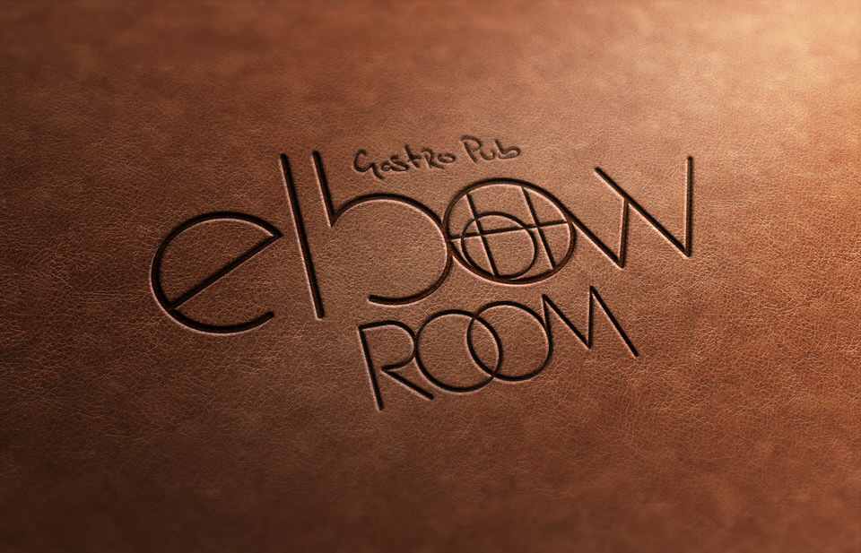 Feat - Elbow Room - logo on leather