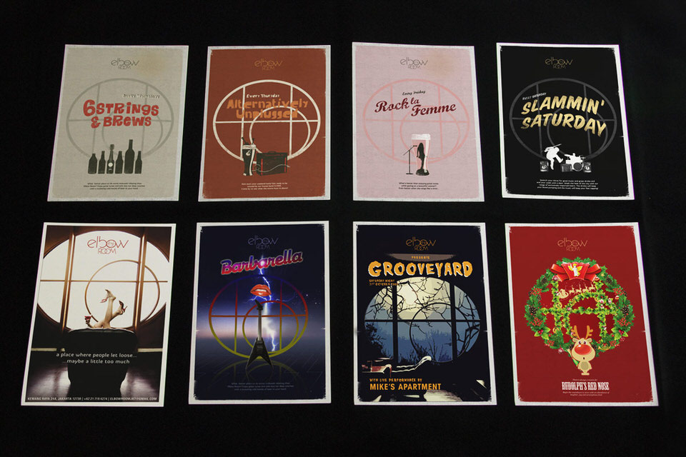 Feat - Elbow Room - Series of Event Posters