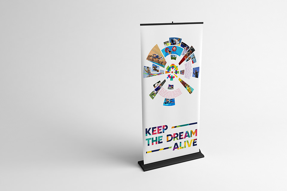 Asian Games 2018 KEEP THE DREAM ALIVE banner