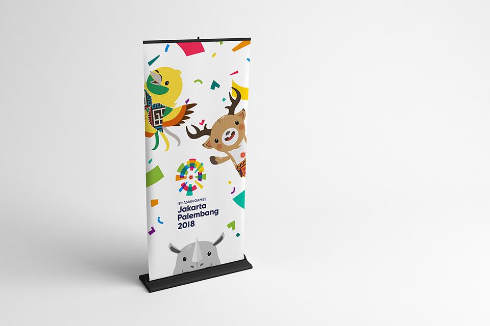 Asian Games 2018 Mascot Banner