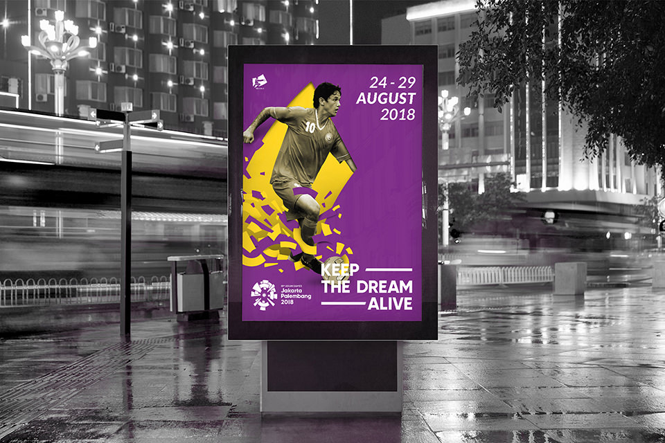 Asian Games 2018 Looks of the game, football billboard