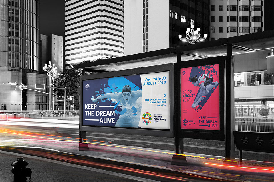 Asian Games 2018 Looks of the game, bus stop billboards