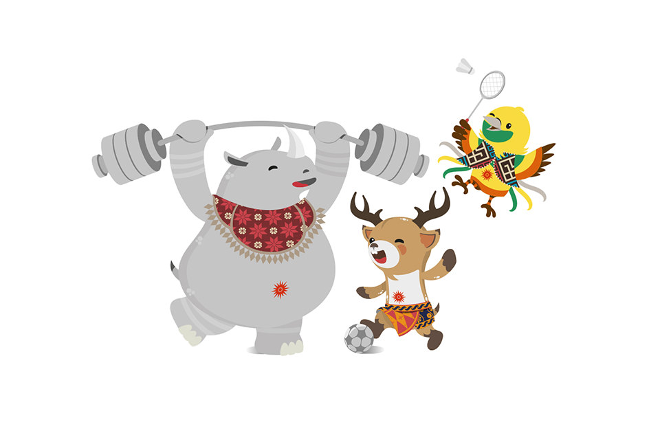 Asian Games 2018 Mascots, Kaka, Atung and Bhin Bhin