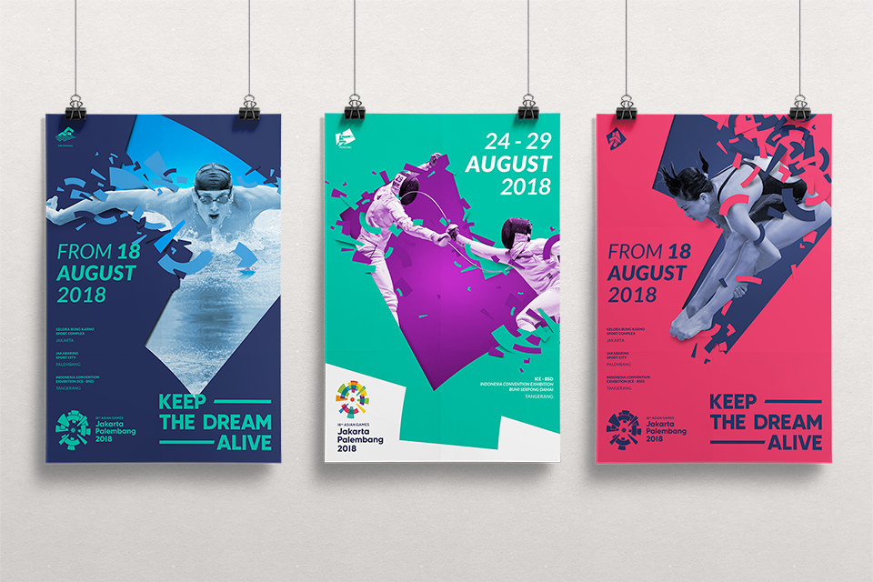 Asian Games 2018 Looks of the game, Sports promotional posters