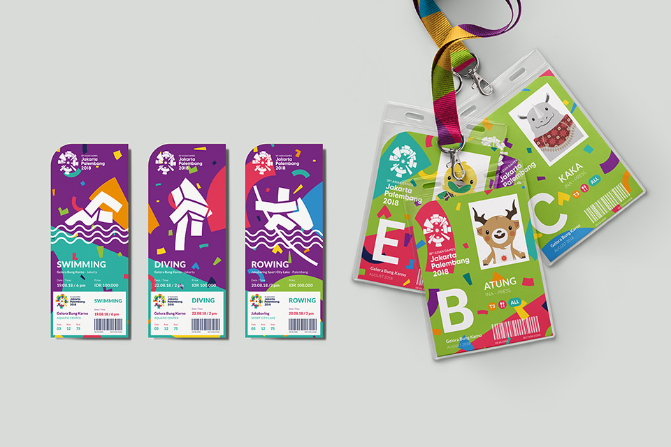 Asian Games 2018 - Looks of the game - Tickets and ID tags